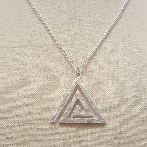 Jewelry - Swirling Triangle Necklace